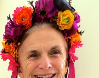 Day of the Dead / Día de los Muertos Headband crown