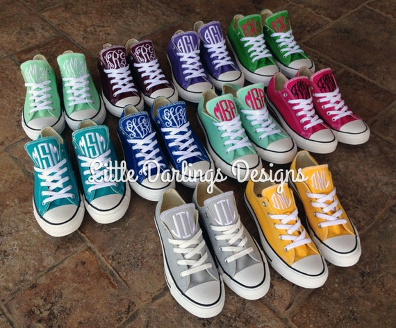 trendy monogrammed converse all star sneakers - All Converse Colors