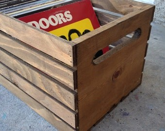 Handmade Wood Record/Vinyl/LP Crate (original)