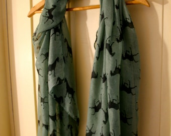 Horse Scarf, Green
