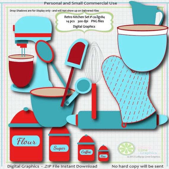 Items Similar To Retro Clipart Baking Kitchen Mixer