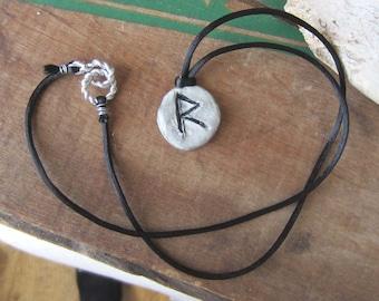 rune necklace RAIDHO runes pendant witchcraft magick occult wicca wiccan jewelry pagan magic amulet viking runes elder furthark