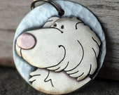 Large Dog Tag - Dog ID Tag - Pet Tag - Golden Retriever pet id tag or key chain