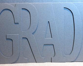 GRAD or GRADE Chipboard Album 5.5 high x 12 inches long