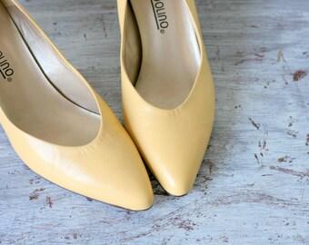 Yellow heels | Etsy