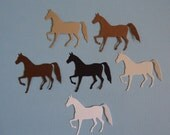 6 x Horse Die Cutsfor Scrapbooking Cards and Paper Crafts Chinese New Year