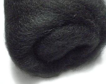 Natural True Black Alpaca Batt - 5.5 ounces