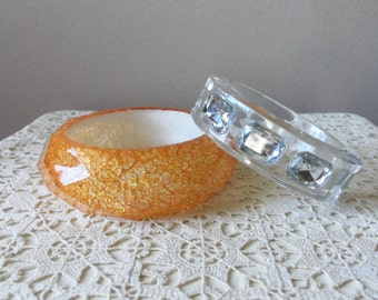 Bangle Bracelets - Set of Two, Chunky Vintage Bangles, Jewelry Accessory, Collectible, Gift Idea