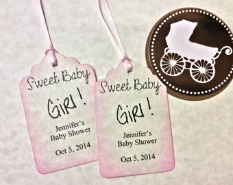 Baby Girl gift Favor tags / baby shower
