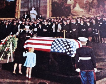 John Fitzgerald KENNEDY The Last Full Measure National Geographic Small Reprint 1964 JFK Funeral and Death info Full COLOR Pictures