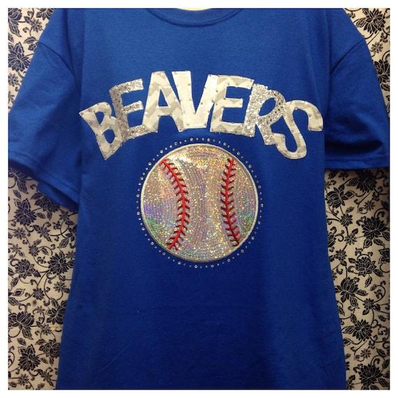 Custom bling softball baseball t shirt for Custom baseball tee shirts