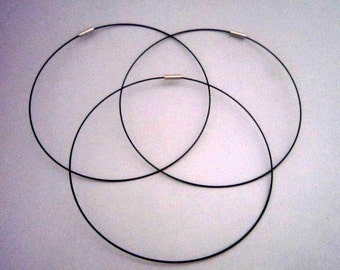 "16"" Black Magnetic Neckwire for Pendants"
