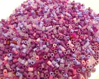 1000 Perler Hama Fuse Beads Purple Shades