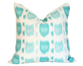 Cintra Turquoise - Quadrille - Designer Pillow Cover 8x16 (single-sided)