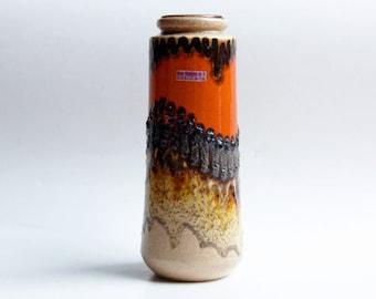 Mid Century German Lava Vase - Scheurich 60s