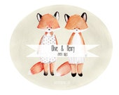 PRINTABLE Paper Dolls, Olive and Henry Fox