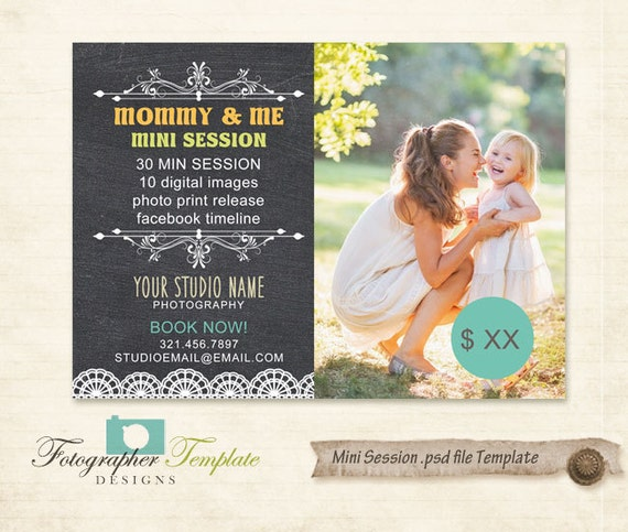 Mini Sessions Template Mothers Day Photography Marketing Board