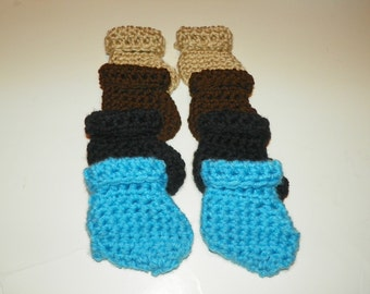 Baby Booties set of Four    Size Newborn