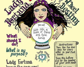 Hand-held Fortune Telling Wheel - Lady Fortuna Wheel of Destiny