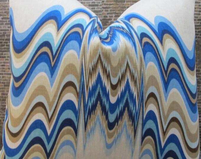 SALE Designer Pillow Cover 18 x 18, 20 x 20, 22 x 22 -  Distorted Oceanfront