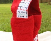 FULL-SIZE Hooded Bath Towel -- Child's name appliqued on back -- Anchors Away