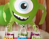 Monsters University Mike Wazowski Party Balloon PRINTABLE