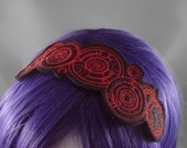 Doctor Who Gallifreyan Headband - Red and Black