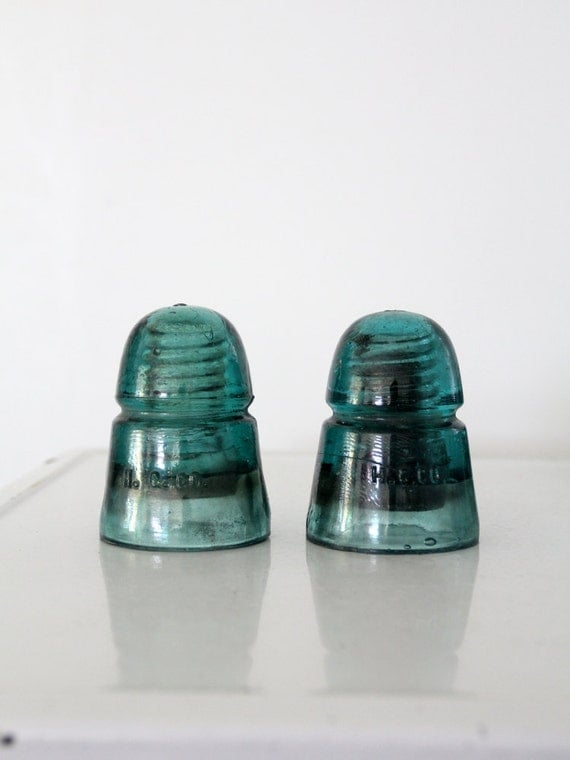 Hc Co Antique Glass Insulator Collection 2 Pc H C Co