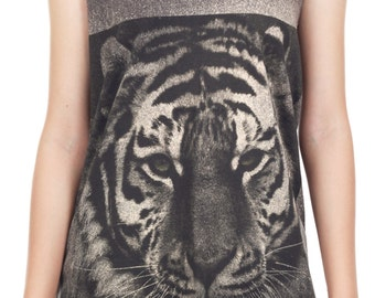 Bengal Tiger Tank Top Bengal Tiger Shirt Animal Art Design Tank Women Shirt Tunic Top Vest Tank Top Size M, L, XL -IZJBT41