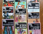 10 CLASSIC CHILDREN'S STORIES Last Of Mohicans Moby Dick Treasure Island Sherlock Holmes 3 Musketeers Jekyll Hyde Scarlet Let Invisible Man
