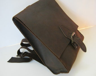 Hand Stitched Backpack - Full Grain Leather - Handmade Backpack