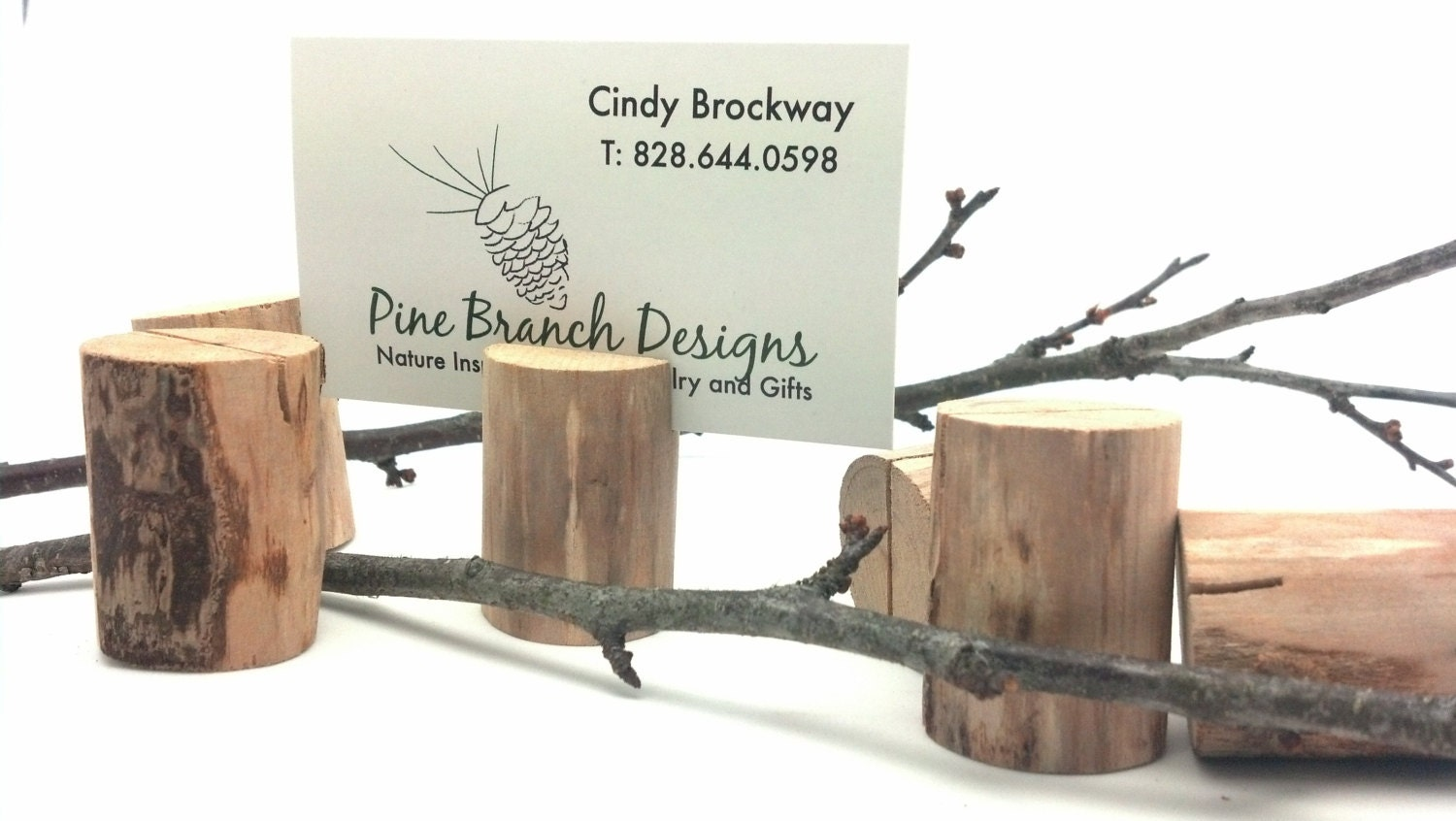 Rustic Placecard Holders Set Of 6 Natural Branch