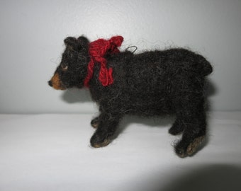 black bear  needle felted