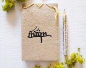 the hobbit . LOTR //  personalized tengwar mini notebook & pencil gift set // geek stocking stuffer