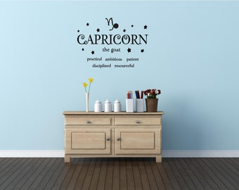 Capricorn the goat horoscope zodiac wall art wall sayings vinyl letters stickers decals