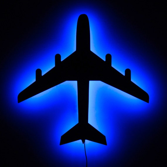 Led Sign Home Decor: Lighted Airplane Wall Art And Home Decor LED Backlit By