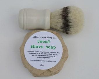 Tweed Shaving Soap, Vegan Soap, Men's Shave Soap