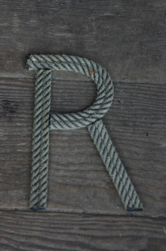 10 inch rope letters nautical personalize large letters for Large nautical rope