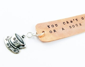 Tea Lover Gift (Handmade Bookmark with Literary Quotation by C.S. Lewis and Tea Cup)
