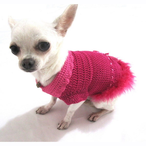 hot pink sexy dog dresses costumes fur feather fancy chihuahua