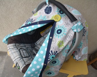 Car seat Cover Boy Reversible FREESHIPPING carseat Canopy nursing cover