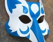 MADE to ORDER Kitsune Fox Leather MaskGreat for Halloween Burning Man Masquerade Costume LARP Cosplay Mardi Gras