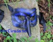 Leather Crow Raven Mask Great for Halloween Burning Man Masquerade Costume LARP Cosplay Mardi Gras