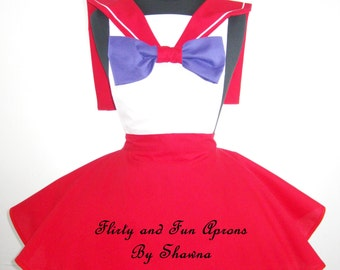 Inspired Cosplay Sailor Mars Costume Apron