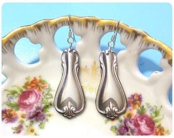 Mia Spoon Earrings, Upcycled, Repurposed, Spoon Jewelry