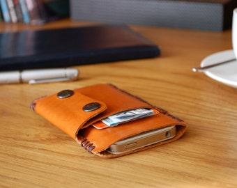 Leather iPhone 7 case iPhone 7 cover iPhone 6 case iPhone 6 cover iPhone 7 Plus case iPhone 6 plus cover - Brown leather sleeve