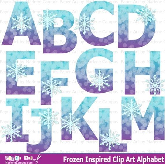 Frozen Clip art Alphabet Frozen Birthday Frozen Party