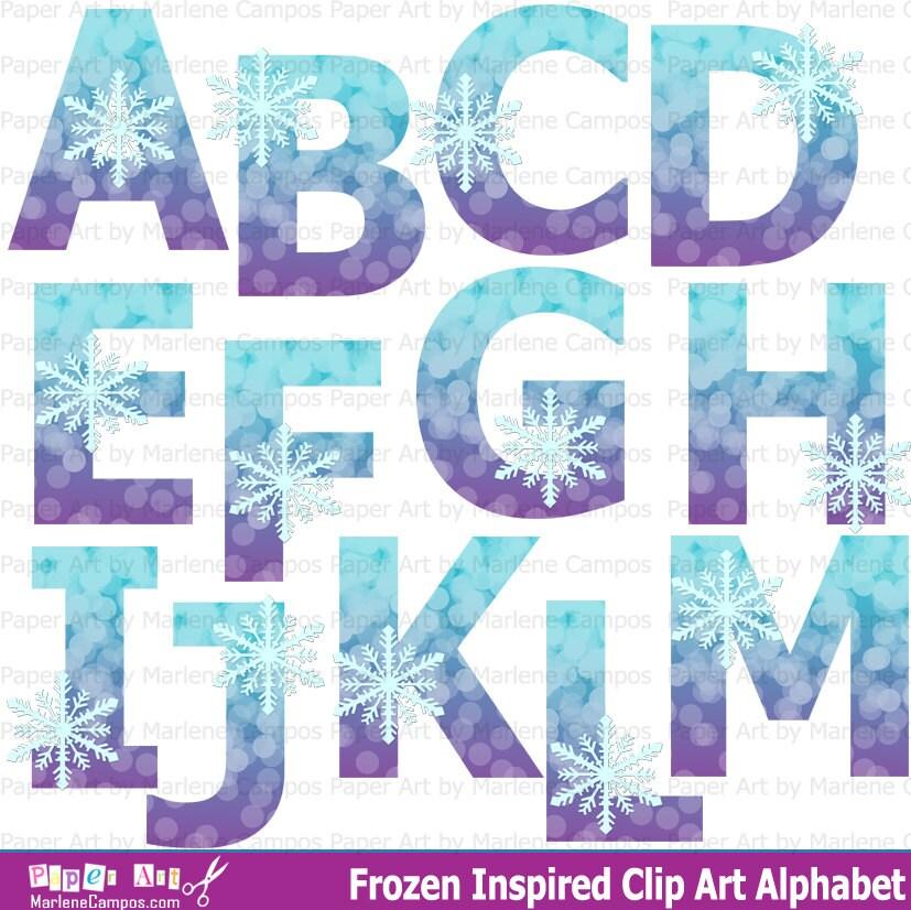 Frozen Letters Clipart