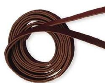 """DIY LEATHER Cuff Supply - Leather Bracelet Making - Deep Burgundy/Brownish Colored 1/2"""" x 48"""" Leather Bracelet Strip -2 Pack"""