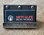 Personalized hand made/forged metal business card holder/display